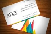 Card visit nhiều màu, phong cách tích cực trong kinh doanh