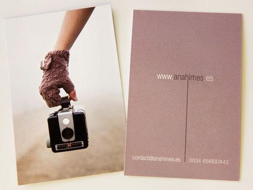 In danh thiếp, name card, card visit mang đậm phong cách photographer