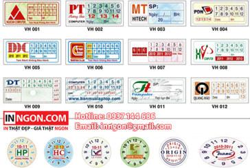 In tem bể, tem bảo hành, decal giá rẻ chỉ từ 400đ/con