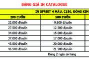 Bảng giá in ấn offset