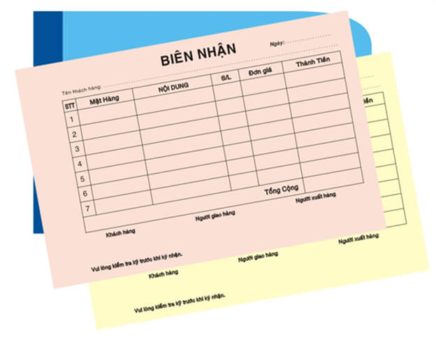 Bảng Giá in biên lai, hóa đơn, phiếu thu, chi giá rẻ tại Quận 2