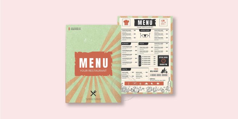 Chọn màu làm sao để thiết kế menu độc đáo