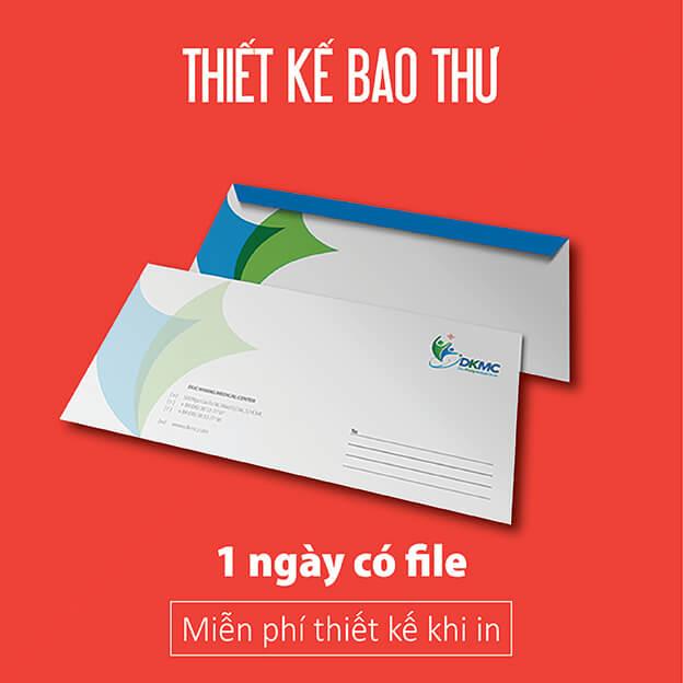 Chuyên in bao thư, bì thư, phong bì giá rẻ tại Quận Tân Phú