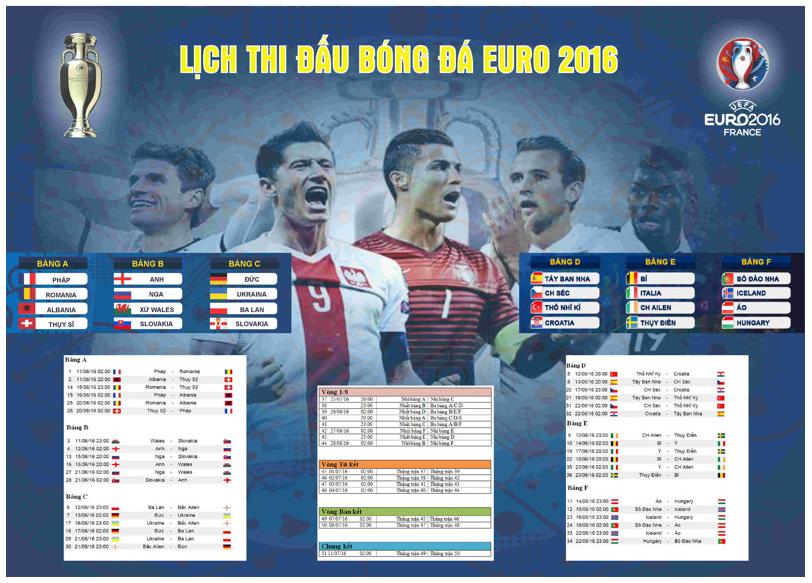In poster lịch thi đấu bóng đá