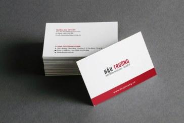 Các thông tin liên quan cần biết khi thiết kế card visit